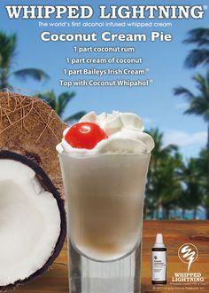 Coconut Cream Pie #drinks #cocktails #drinkrecipes