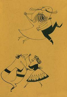 Abner Graboff, dancing people, couples