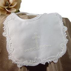 Satin & Lace Венеция ручной Bib девушки Крещение (2MSGXBC)