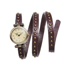 I found this amazing Handcrafted Genuine Leather Wrap Watch with Rivets - Assorted Colors at nomorerack.com for 60% off.  Love the black, brown, and white.