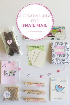 Who doesn't love receiving letters and packages in the mail? This is such a creative idea for snail mail. I'll show you what I added to my artsy snail mail package @littlegirldesigns.com