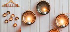 Faça você mesmo... luminárias com latinhas de atum! #Interesting