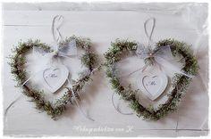 Mr & Mrs Hochzeitsdeko Herzen Hochzeit Winter von Wohngeschichten von K. auf DaWanda.com
