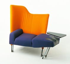 Paolo Deganello, chair or chaise-longue Torso, 1982. Made by Cassina.