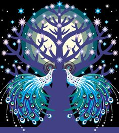 Tree of Life with Peacocks ~ Suzanne Carpenter