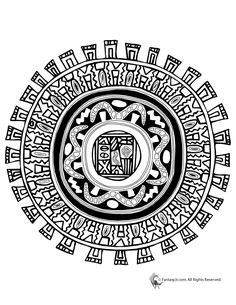 Mandala Coloring Pages for Kids & Adults Aztec Mandala Coloring Page – Fantasy Jr.