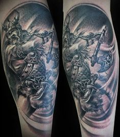 Half Sleeve Viking Warrior Tattoo For Guys photo - 1 Warrior Tattoo Sleeve, Viking Warrior Tattoos, Face Tattoos, Sleeve Tattoos, Fresh Tattoo, Tattoo Graphic, Man Photo, Tattoos For Guys, Ink