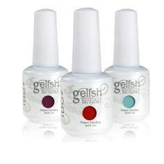 Gelish Esmaltes De 21 Dias O Mas....!!!! Uñas Gel Color - $ 104.99 en Mercado Libre