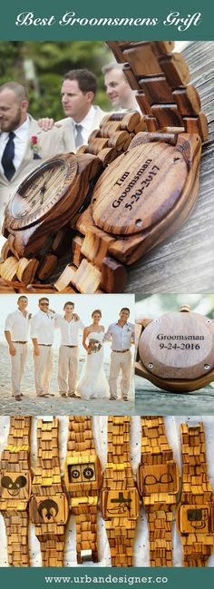 Personalized/engraved wooden watches, perfect gifts ideas for groomsmen, best man, anniversary, birthday gifts. #Groomsmengifts #Groomsmengiftset #UDwatches #bestgroomsmengifts #practicalgroomsmen gifts #giftforgroom #weddinggifts