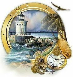 Browse Lighthouses pictures, photos, images, GIFs, and videos on Photobucket Decoupage Vintage, Decoupage Paper, Vintage Paper, Nautical Cards, Nautical Theme, Lighthouse Art, Images Vintage, Beach Art, Digital Stamps