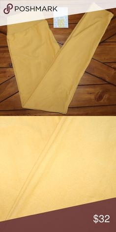 "OS Mustard Yellow Lularoe One Size Leggings by Lularoe. Nicknamed ""butter leggings"" because some say they are the softest around. One Size Fits sizes 2-10 ****Leggings do not come from manufacturer with tags attached due to the delicate nature.  They will be delivered in the plastic bag/sleeve that they come from manufacturer in.  Rest assured these are brand new straight from manufacturer. Kept in a Smoke Free/Pet Free Environment LuLaRoe Pants Leggings"