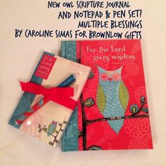 new scripture journals and notepad & pen sets! Multiple Blessings by Caroline Simas