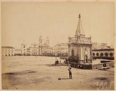 Georges Leuzinger. Largo do Paço e o chafariz de Mestre Valentim. c. 1865. Rio de Janeiro. Brasiliana Fotográfica