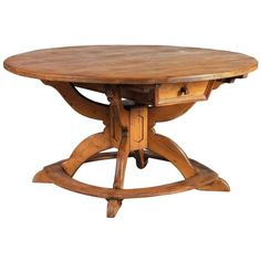 Large Round Alpine early 19th century pine Table   From a unique collection of antique and modern dining room tables at https://www.1stdibs.com/furniture/tables/dining-room-tables/