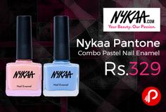 Nykaa brings Nykaa #Pantone Combo and pack of 2 Pastel Nail Enamel just at Rs.329. Nykaa Pastel Nail Enamel – Rose Quartz 27 and Serenity 69. The Nykaa Pastel Nail Enamel Collection is a superior nail lacquer with light reflecting pigments that deliver intense, long lasting color. Perfect for times when you DO want super shiny nails that last longer than regular polishes.  http://www.paisebachaoindia.com/nykaa-pantone-combo-pastel-nail-enamel-just-at-rs-329-nykaa/