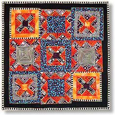 by Rita Hutchens - quilt artist  Lauren--use your African fabric for this!