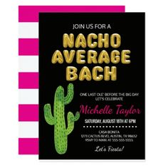 Personalized Fiesta Bachelorette Invitations | Available at BOARDMAN PRINTING! Visit our facebook page.