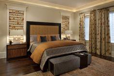Kenmore Master Bedroom A - contemporary - bedroom - chicago - Michael Abrams Limited Master Bedroom Design, Home Bedroom, Bedroom Furniture, Bedroom Decor, Bedroom Ideas, Fall Bedroom, Light Bedroom, Grey And Gold Bedroom, Bedroom Orange