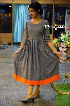 Order contact my whatsapp number 7874133176 Simple Frock Design, Simple Kurti Designs, Long Dress Design, Dress Neck Designs, Kurta Designs Women, Stylish Dress Designs, Designs For Dresses, Stylish Dresses, Blouse Designs