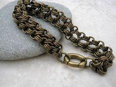 Men's Brass Bracelet Men's Chain Bracelet handmade by Arret on etsy.ca