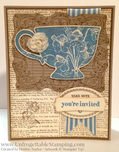 Unfrogettable Stamping | Fabulous Friday blast from the past Tea Shoppe tea party invitation