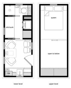 ynez tiny house floor plan 2 600x209 ynez tiny house on wheels