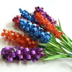 Twisty Twirly Paper Flower Bouquet | AllFreePaperCrafts.com