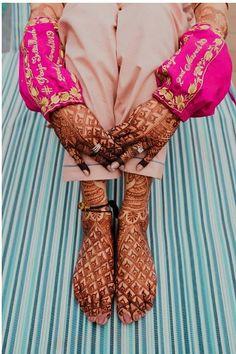 Customized Bridal Chooda Covers Are The Next Big Bridal Trend! Disney Wedding Dresses, Wedding Dresses For Girls, Pakistani Wedding Dresses, Indian Wedding Outfits, Wedding Suits, Indian Outfits, Wedding Cakes, Wedding Hijab, Punjabi Wedding