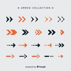 Modern set of colorful arrows with flat design Arrow Design, Word Design, Map Design, Typography Design, Branding Design, Arrow Illustration, Design Plat, Free Infographic, Interactive Design