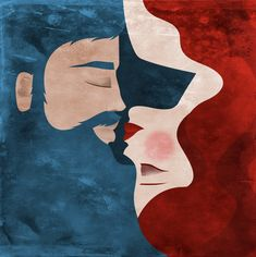 #illustration #kiss #piperitadesign Digital Illustration, Kiss, My Arts, Graphic Design, Abstract, Artwork, Backgrounds, Work Of Art, A Kiss