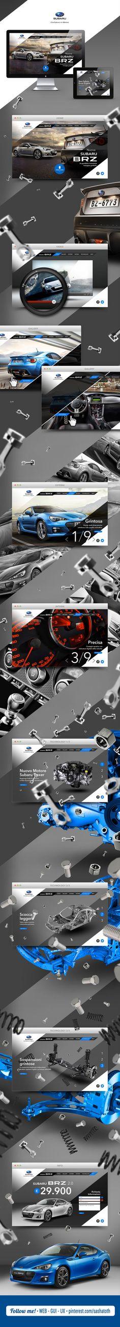 Subaru BRZ Website by Fabio Minerva, via Behance *** #web #design #behance