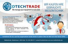 """Diseño de Flyer. Empresa """"MEDTECH TRADE"""" para la Consultora Multinacional Stocker Group"""