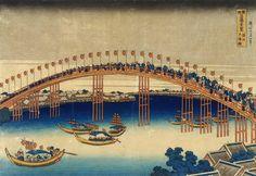 The Festival of Lanterns on Temma Bridge (1834)