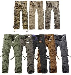Discount cargo pants men, casual/camping/outdoor/hikeing camouflage military pants, boys actical trousers with fleece thick-inPants from App...