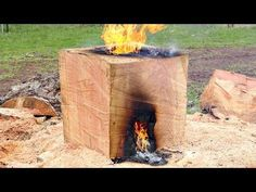 Split Big Rounds of Firewood Quick, Easy and very little Effort! Chainsaw Mill, Making A Bench, Tree Felling, Firewood, Craftsman, Cube, Survival, Stoves, Cool Stuff