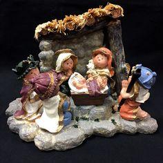 Childrens Nativity with Manger