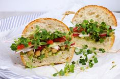 Ad: Sandwich with radish sprouts by Apolonia on Sandwich with green radish sprouts crispy radish and cucumber, tomato with avocado dressing and mustard with herbs. Radish Sprouts, Avocado Dressing, Tasty, Yummy Food, Organic Seeds, Eating Raw, Healthy Nutrition, Cucumber