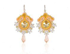 """Lovely gift for sister. Fabric Earrings – Earrings """"Vesna"""" – a unique product by Zuzana_Barcakova via en.DaWanda.com"""