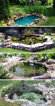 Summer garden: transform your garden into an outdoor oasis - Gartenteich Outdoor Ponds, Ponds Backyard, Outdoor Gardens, Garden Ponds, Backyard Farming, Garden Art, Aquaponics System, Aquaponics Diy, Diy Pond