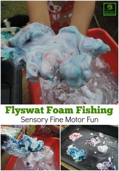 This simple sensory and fine motor activity is so easy to set up for educators and parents and adaptable for both preschoolers and toddlers. See how to create and extend the play here!