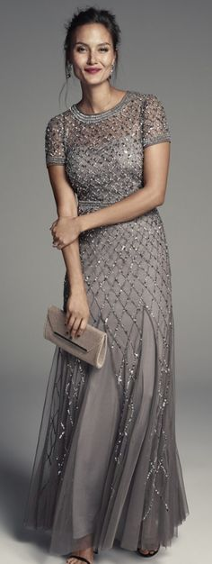 Charcoal sparkle. LOVE this! #Motherofthebride dress