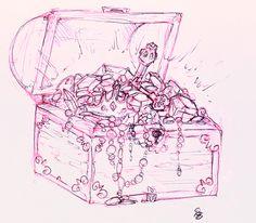 treasure chest tattoo ideas | Jane Tattoo Gallery: chest tattoo by Kristine Horner