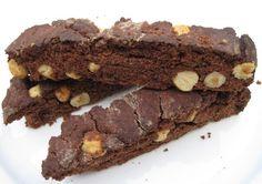Chocolate Hazelnut Biscotti- dairy free, gluten free.