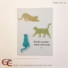 Crafty Cherry * Cats   Papertrey Ink(PTI/ペーパートレイインク)Superstition Stamp Set