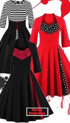 Plus Size-Vintage Dress