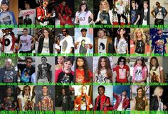 Celebrities wearing Michael Jackson shirts/jackets. Haha I love how one of them is MJ himself