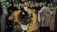El Greco, Burial of the Count of Orgaz, 1586–88, oil on canvas, 480 x 360 cm (Santo Tomé, Toledo, Spain) DETTAGLIO #elgreco
