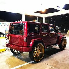 Candy Apple Red and Gold Tag a buddy that loves it  Follow @pun_intended_news   By: @daisuke_nextworks | #punintendednews  All rights reserved to the respective owner(s) #wrangler #jeep #candypaint #forgiato #massarati #MercedesBenz #bmw #audemarspiguet #Rolex #2muchsauce