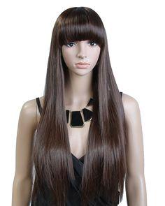 Cool2day 26 Long Straight Fashion Women s Beautiful Hair Party Full Wig Wig  Cap JF11 (Dark 8bab52087