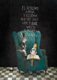 Illustration by Luis Gabriel Pacheco for Alice in Wonderland Lewis Carroll, Adventures In Wonderland, Alice In Wonderland, Gabriel Pacheco, Go Ask Alice, Were All Mad Here, Through The Looking Glass, Children's Book Illustration, Childrens Books